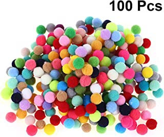 Healifty Healifty 100pcs Craft Pompoms Assorted Pom Poms Ball for Kindergarten Kids DIY Creative Art Craft Projects Decoration Hobby Supplies(Mixed Color)