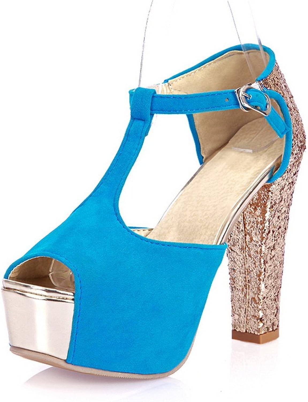 AdeeSu Girls Sequins Assorted color Polyurethane Sandals