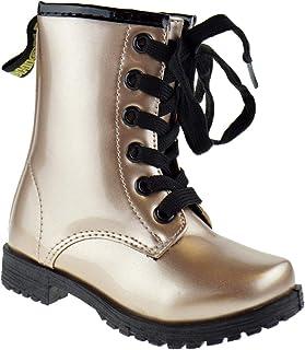 350336f9b9a Ositos BCT 14K Little Girls Glitter Military Lace Up Combat Boots