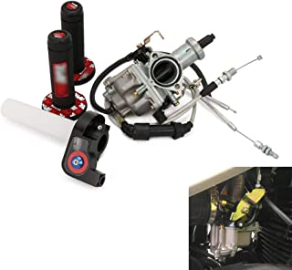 Motorcycle PZ30 30mm Carburetor Carb Accelerator Pump + Dual Cable + Throttle Tube + Dirt Bike Grips For Keihin 200cc 250cc IRBIS TTR 250