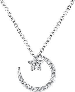 Best diamond crescent moon necklace Reviews