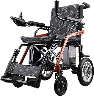 silla de ruedas eléctrica Plegable Silla eléctrica Ligera Abierta/Plegable en 1 Segundo, hasta 12 km de Alcance para Personas discapacitadas de Edad Avanzada