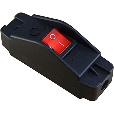 20A Heavy Duty Inline Cord Switch,Large Current in-Line On/Off Rocker Switch with Red Led