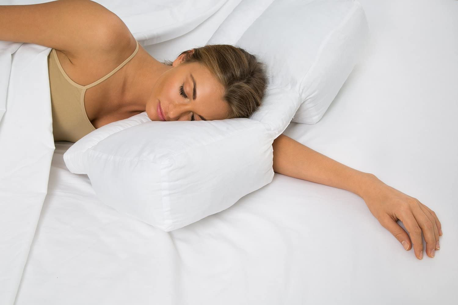 Better Sleep Pillow Free shipping anywhere in the nation Gel Fiber Desig Patented Online limited product Arm-Tunnel -