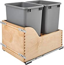 Rev-A-Shelf 4WCSC-1835DM-2 Double 35 Quart Pull Out Waste Trash Bin Container