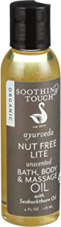 Soothing Touch - Ayurveda Organic Bath, Body & Massage Oil Nut Free Lite Unscented - 4 oz. by Soothing Touch