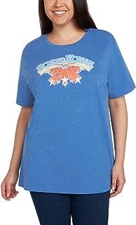 DC Comics Women's Plus Size T-Shirt Wonder Woman Superman Batman Logo Print