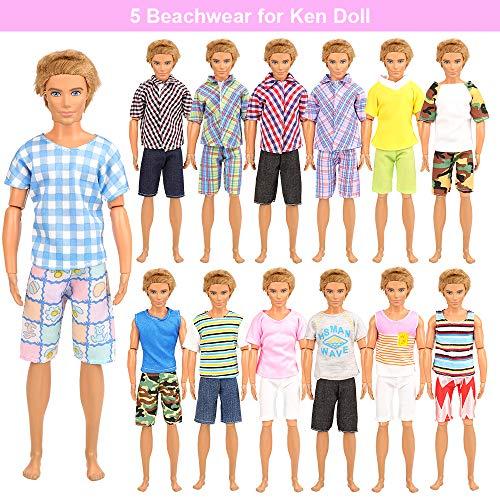 Miunana 5 Ropas Vestidos Ken Dolls Seleccionado Al