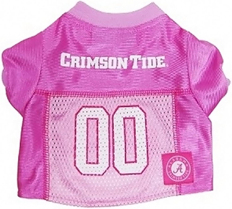 Mirage Pet Products 30101 PJRMD Alabama Crimson Tide Pink Jersey MD