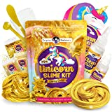 Original Stationery Gold Mini Slime Kit for Girls, Glitzy Gold DIY Slime Party Favors, Unicorn Special Edition Slime Kit, Great Slime Kits for Girls Ages 7 12