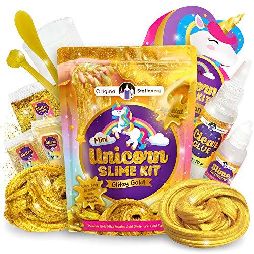 Original Stationery Glitzy Gold Unicorn Slime Kit Now $7.90
