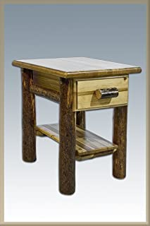 Montana Woodworks Log Nightstand with Drawer - Glacier Country Collection