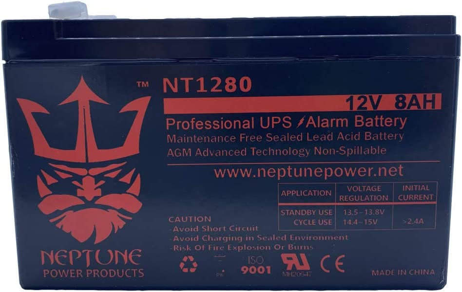 Neptune Replacement for Verizon Goldtop GT1280-HG 12v 8ah F2
