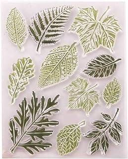 Tampon en silicone transparent - Motif feuille - Pour loisirs créatifs - Pour scrapbooking, scrapbooking, décoration de ca...