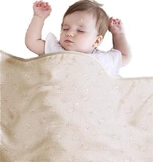 mamodenpa ブランケット おくるみ マタニティ 電磁波防止 電磁波対策 電磁波から大切な赤ちゃんとお母さんを守ります。EMC-416BKT オフホワイト 75cm×90cm
