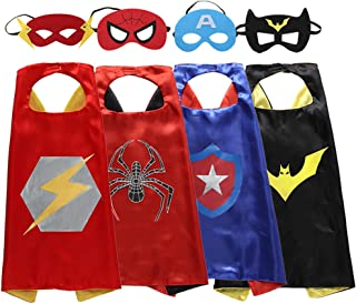 Zaleny Superhero Capes and Masks Costumes for Kids Set of 4