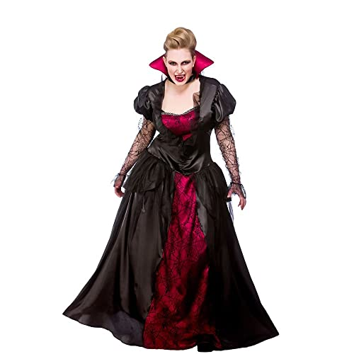 Royal Vampiress Ladies Fancy Dress Vampire Adults Womens Halloween Costume New