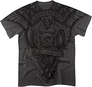 Sons of Anarchy Fear The Reaper All Over Heather T Shirt & Stickers