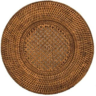 Round Placemats or Chargers Rattan Wicker Set of 4 Place Mats Round 12 inches
