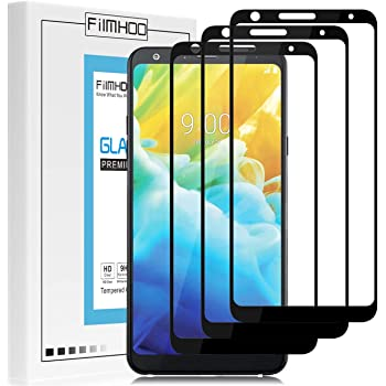 FilmHoo[3-Pack] Compatible with LG Stylo 5/LG Stylo 5 +/LG Stylo 5 Plus/LG Stylo 5X [Full Coverage] Tempered Glass Screen Protector Advanced Clarity Anti-Scratch Bubble Free Touch Accurate