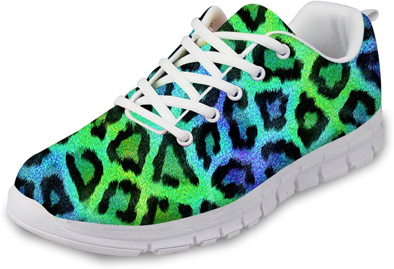 DUOLIFU Couple Men Women Leopard Print Casual Walk shoes Breathable Sports Running Sneakers