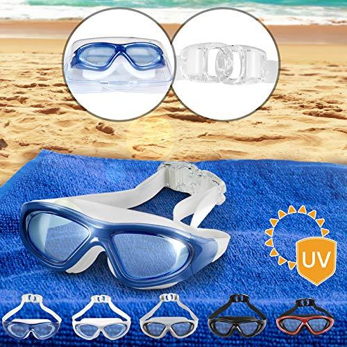 cristales Plus UV tintados Gafas de nataci/ón /ópticas de alta calidad para adultos color negro