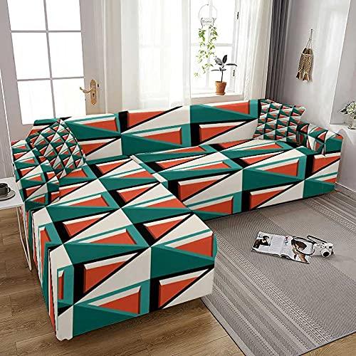 WXQY Funda de sofá elástica con Estampado geométrico Moderno para Sala de Estar Funda de sofá elástica Funda de sillón Funda Protectora de sofá A8 2 plazas