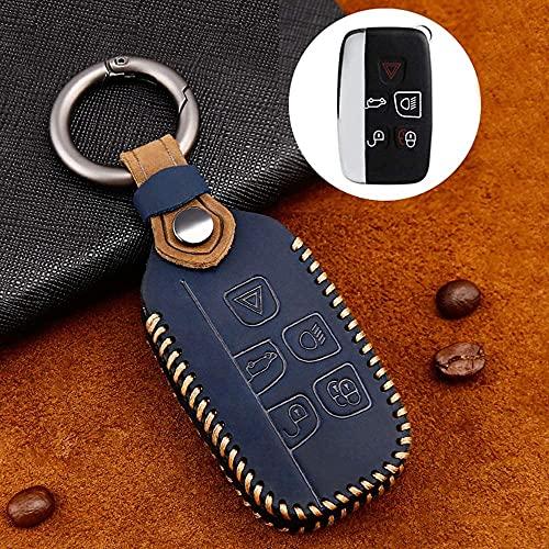 ZWWZ Cubierta De La Llave del Coche, Compatible para La nd Ro er Discovery Evoque Freelander LR4 Ra nge Ro Ver Sport Ja guar XE XF XJ Suave Case Llave con Todo Incluido