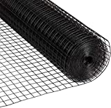Fencer Wire 16 Gauge Black Vinyl Coated Welded Wire Mesh Size 1.5 inch by 1.5...