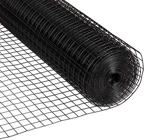 Fencer Wire 16 Gauge Black Vinyl Coated Welded Wire Mesh Size 1.5 inch by 1.5 inch (3 ft. x 50 ft.)