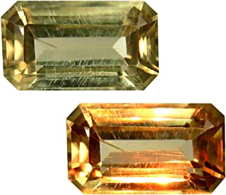 Deluxe Gems 2.50 ct Octagon Cut (10 x 6 mm) Unheated/Untreated Turkish Color Change Diaspore Natural Loose Gemstone
