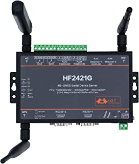 HF New 4G GNSS Serial Device Server HF2421G RS232 RS485 RS422 to Ethernet 4G 3G GPRS Network Converter GPS Industrial WiFi...