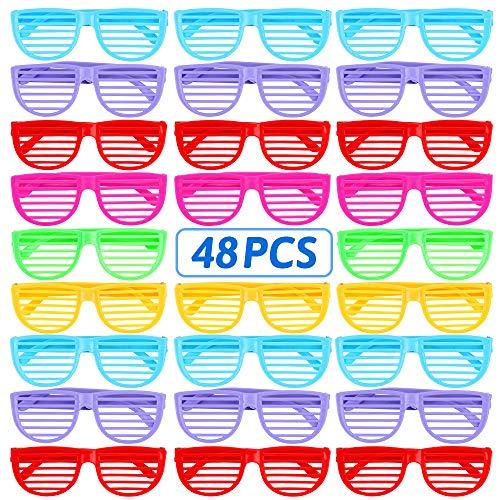 nicknack Shutter Shading Brille, Sonnenbrille Eyewear Party Favors Neuheit Kostüm für Halloween Party Cosplay Foto Requisiten-6 Farben, 48 STÜCKE
