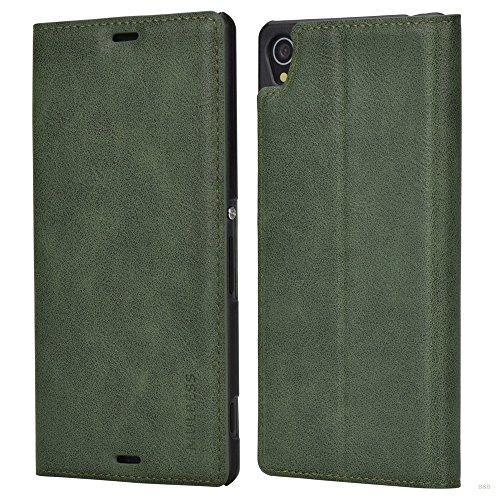 Mulbess Funda Sony Xperia Z3 [Libro Caso Cubierta] Slim de Billetera Cuero de la PU Carcasa para Sony Xperia Z3 Case, Verde