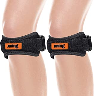 JUNING Knee Strap 2 Pack,Pain Relief Patellar Tendon Support,Knee Strap Brace Support for Hiking,Soccer,Basketball,Running, Jumpers Knee,Tennis,Tendonitis,Volleyball & Squats