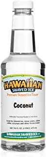 Hawaiian Shaved Ice Syrup, Coconut, Pint