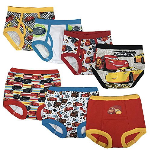 Disney Boys' Cars Potty Training Pant Multipacks, CarsCombo7pk, 3T