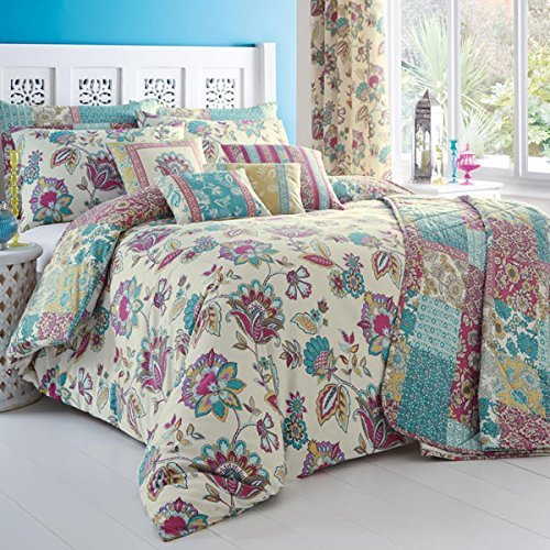 'Marinelli' Double Duvet Cover Set in Teal, Includes: 1x Double Duvet Cover and 2x Pillowcases by Dreams 'n' Drapes