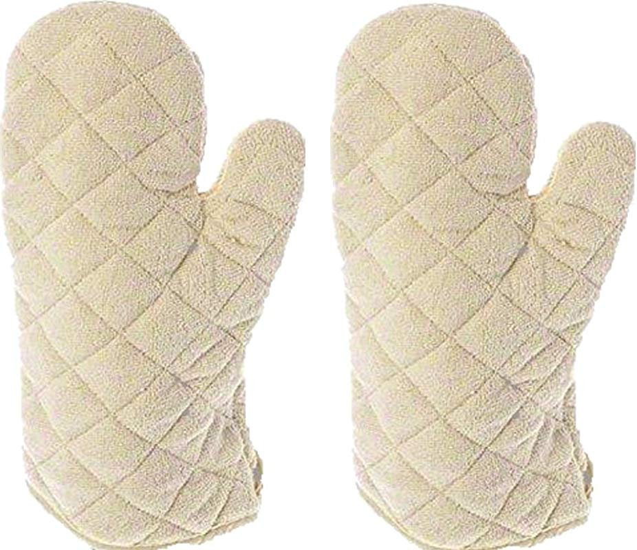 Update International Terry Cloth Oven Mitt Heat Resistant To 600 F Set Of 2