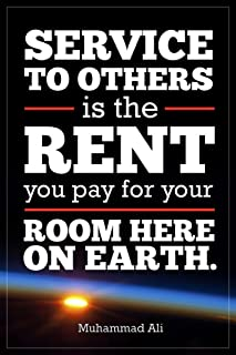 Service to Others Muhammad Ali Quote Motivational Cubicle Locker Mini Art Poster 8x12