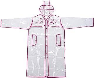 Ducomi® Mademoiselle capa impermeable impermeable transparente de mujer con capucha–sfoggia il Tuo Outfit Migliore tambi...