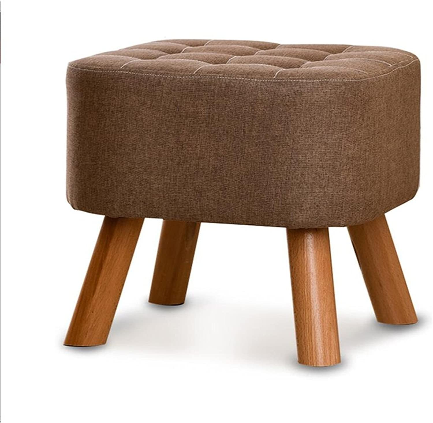 A-Fort DLDL Fashion Creative Makeup Stool shoes Bench (color   Brown)
