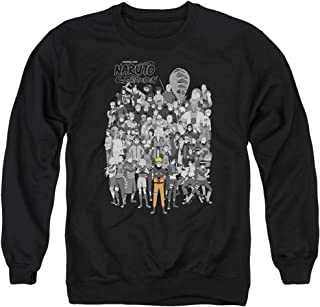 Naruto Shippuden Anime Manga DISTRESSED LEAVES SYMBOL Long Sleeve T-Shirt S-3XL