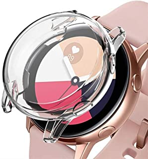 Careflection Soft TPU Bumper Full Around Coverage Screen Guard Protector Frame Protective Cover Case Shell Compatible with Samsung Galaxy Watch Active