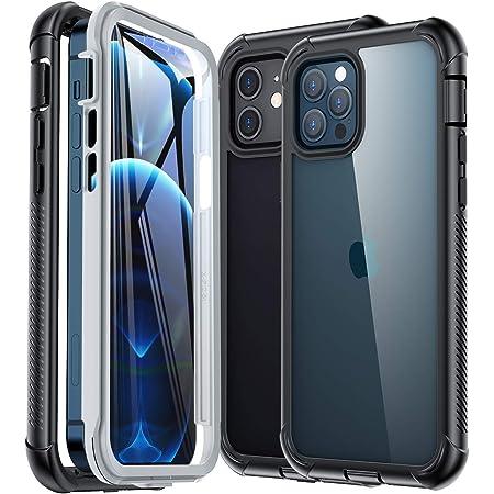 Gospire Compatibile con iPhone 12 Pro 12 iPhone custodia Bumper Case robusta a 360 gradi Full Body Cover Cover con protezione integrata antiurto ...