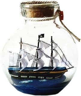 Holder Desktop Offic Decor Creative Glass Ornaments Sailing Ship Model Wooden Crafts Cabinet Interior Decoration Bookshelf...