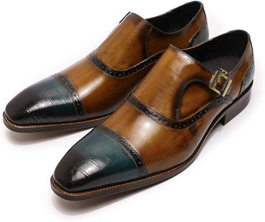 Felix Chu Mens Dress Leather Shoes Handmade Loafers Cap Toe Brown Blue Business Wedding Oxfords Men Shoes
