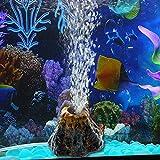 Upmoten aquarium gas stone bubble lámpara con bomba de aire pecera gas shale decoración del acuario volcán pecera decoración conjunto de bomba de oxígeno