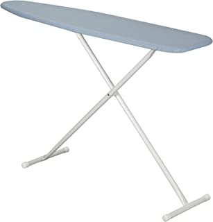 Household Essentials Fibertech Top T-Leg Ironing Board with Cotton Cover, Blue Silicone
