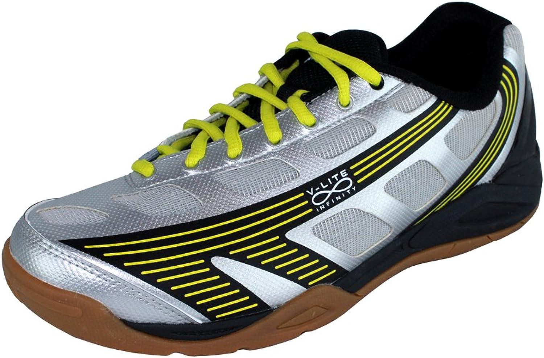 Hi-Tec Infinity Flare Mens Indoor Court shoes Silver Black Yellow (10) [Misc.]